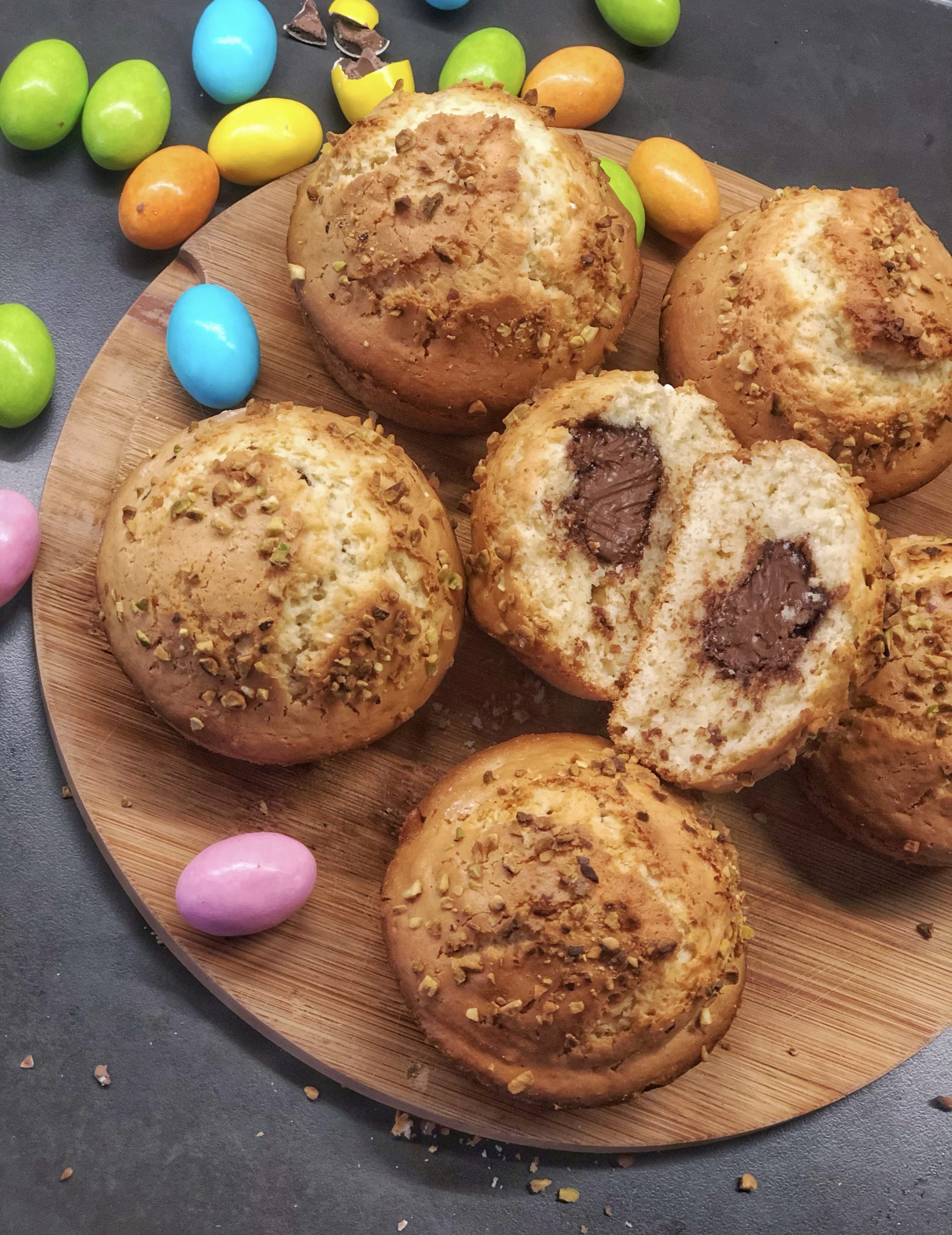 Muffin-pasquali-alla-nutella
