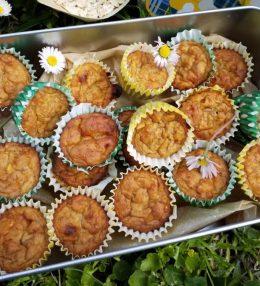 Mini muffin banana, fiocchi d'avena e cannella